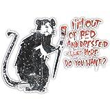 Banksy Out of bed Rat Design | Muurkunst graffiti vinyl Sticker | Urban Art Window, Auto, Laptop Decal Extra Large - 40x56cm