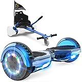 GeekMe Patinete Eléctrico Auto Equilibrio con Hoverkart, Hover Scooter Board, Balance Board + Go-Kart 6.5 Pulgadas con Blueto