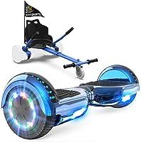 GeekMe Hoverboard mit Sitz, Elektroroller Hoverkart, Elektro Scooter Go-Kart mit Bluetooth-Lautsprecher LED-Leuchten…