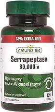 Natures Aid Serrapeptase 80000Iu 90 30 Free Enteric Coated Tablets Natures Aid 33