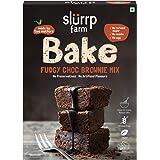 Slurrp Farm Fudgy Chocolate Brownie Mix   Eggless, Wheat and Maida Free, 200g
