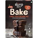 Slurrp Farm Chocolate Brownie Cake Mix | Vegan, Made with Gluten Free Millets, Dairy Free, All Natural, 200g (7 oz)