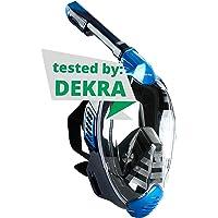 Khroom® von DEKRA® geprüfte CO2 sichere Schnorchelmaske Vollmaske | bekannt aus YouTube | Seaview X - Tauchmaske für…