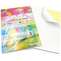 100 Sheets of Quality A4 White MATTE Self Adhesive / Sticky Back Label Printing Paper Sheet
