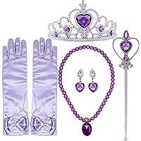 FancyDressWale Princess Elsa Cinderella Rapunzel Dress up Accessories Set for Girls (Purple)