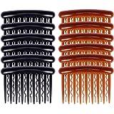 Lurrose 17 dents en plastique pince à cheveux peignes Vintage petits peignes latérales de cheveux pour les femmes filles util