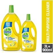 Dettol Lemon Healthy Home All- Purpose Cleaner 3L + 900ml