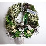 Small-Preis Türkranz rund mit Vogel Willkommen Natur ø 28 cm - Frühling - Sommer - Herbst - Willkommensgruß 882