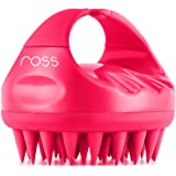 Ross Hair Scalp Massager Shampoo Brush with Soft Silicone Bristles, Anti Dandruff, Exfoliating with Scalp Care (Pink)