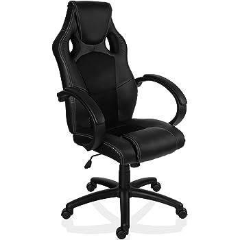 RACEMASTER Chaise de Gamer Bureau Style Racing GS Series, Noir, vérin à gaz certifié SGS, 20 Coloris Disponibles Fauteuil de Bureau