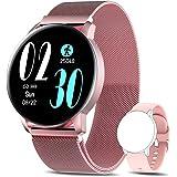 AIMIUVEI Smartwatch Mujer, Reloj Inteligente IP67 con Pulsómetro Presión Arterial 6 Modos de Deportes Monitor de Sueño, 1.3 I