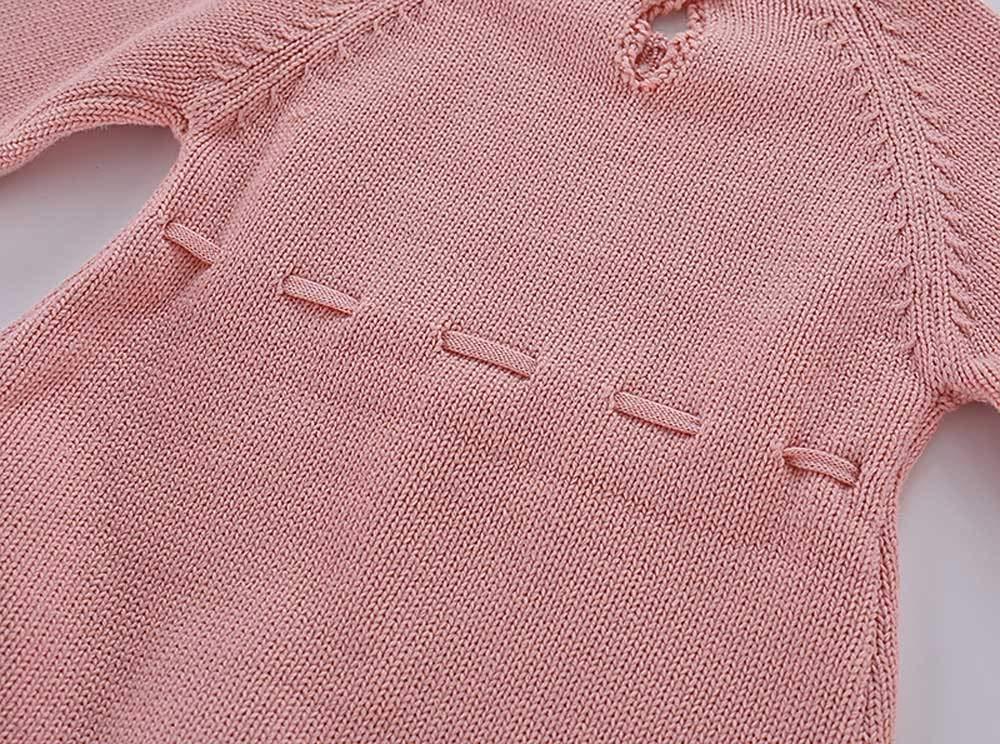 Mitlfuny Unisex Suéter Mameluco Ropa de Punto Invierno Otoño Recien Nacido Bola de Pelo Correa Princesa Camisa Tejer… 4
