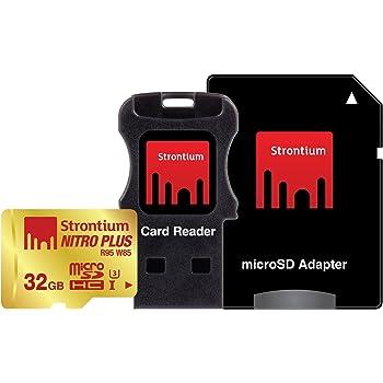 Strontium R80 W60 32GB Nitro Plus UHS-1 (U3) MicroSD With Adaptor and USB Card Reader