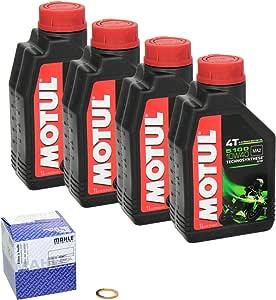 Motul 5100 10w 40 Ölwechsel Set Honda Cb 750 K Four Bj 69 78 Motoröl Mahle Ölfilter Und Dichtring Auto