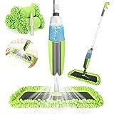 Winpok Mop z rozpylaczem, do szybkiego czyszczenia, z dyszą natryskową, ze zbiornikiem na wodę i 2 poszewkami z mikrofibry (z