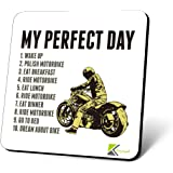 CS712 My Perfect Day (for Motorbike Lover) Novelty Funny Coffee Tea Drink Gift Glossy MDF Wooden Coaster