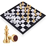 MumooBear Travel Chess Board Set Games - Magnetic Chess Piece with Portable/Foldable Board- Educational Toys For Kid/Children