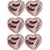 ClubBeauty Heart Shape False-Fake Eyelashes With Glue Set Natural (Pair of 6)