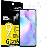 NEW'C 2-Stuks, Screen Protector voor Xiaomi Redmi 9A, Redmi 9C, Gehard Glass Schermbeschermer Film 0.33 mm ultra transparant,