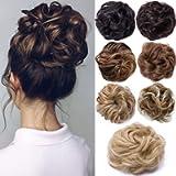 Messy Hair Scrunchies Hair Bun Extensions Curly Wavy Hair Pieces For Women Updo Ponytail Hair Extensions Hair Donut Hair…