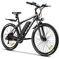 Vivi E-Bike Mountainbike 26/27.5 Zoll Elektrofahrrad 350W Elektrisches Fahrrad mit 36V 10.4Ah Lithium-Batterie und…