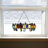 Lente Vogels Gebrandschilderd Glas Raamdecoratie Kamer Decor, Woondecoratie Cadeau Voor Moeder En Zus, Glas Decoratie van Acr