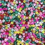 Skyllc® 250X Abalorios Perlas Cristal Colores para Collar Pulsera