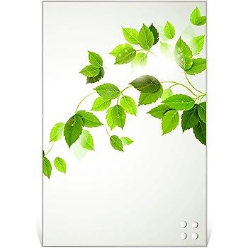 BANJADO Design Glas-Magnettafel 30x45cm gro/ß Memoboard beschreibbar Magnetboard mit Motiv Kaffee/&Schokolade Magnetwand mit 4 Magneten