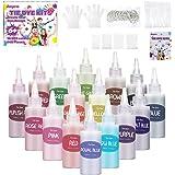 Anpro Tie Dye Kit, 148 batikfarben Set, 16 Bunte Tie-Dye-Textilfarbstoffe, Stoff Textil Farben Tie Dye Kit Kunsthandwerk für