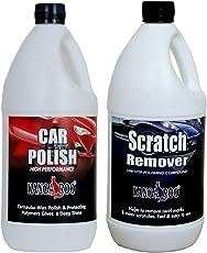 KANGAROO CAR Wax Polish 1LITRE + SCRACTCH Remover-(FINE RUBBING Compound) 1 Litre