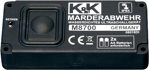 K&K Cartrend M8700 Marderabwehr - wasserdichtes Sinus-Ultraschallgerät, Batteriebetrieb, Reichweite bis zu 6m/60m², mit IP 65