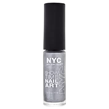 Nyc showtime nail art number 002 silverism amazon beauty nyc showtime nail art number 002 silverism prinsesfo Choice Image