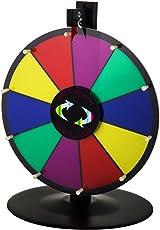 "Buoqua 15"" Glücksrad Spielzeug Farbe Rad Lotteriespiele 3.8kg Prize Wheel Tabletop Wheel of Fortune Spinning Prize Wheel Roulette Game (15 inch)"