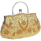 HONGCI Elegant Retro Perlen Damen & Ladies Clutch Bag, Abendtasche Clutch Evening Bag Bridal Bag Wedding Clutch Tasche Handta