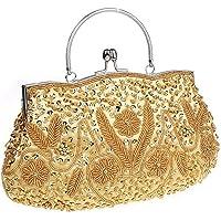 HONGCI Elegant Retro Perlen Damen & Ladies Clutch Bag, Abendtasche Clutch Evening Bag Bridal Bag Wedding Clutch Tasche…