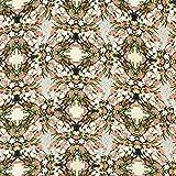 Fabulous Fabrics Kleiderstoff Blumenbouquet - grün -