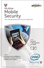 McAfee Mobile Security 1 Device, 1 Year- Product Key (Activation Key Card)