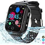 Kids Smart Watch Phone - IP67 Waterproof Smartwatch Boys Girls with Touch Screen 5 Games Camera Alarm SOS Call - Phone Watch