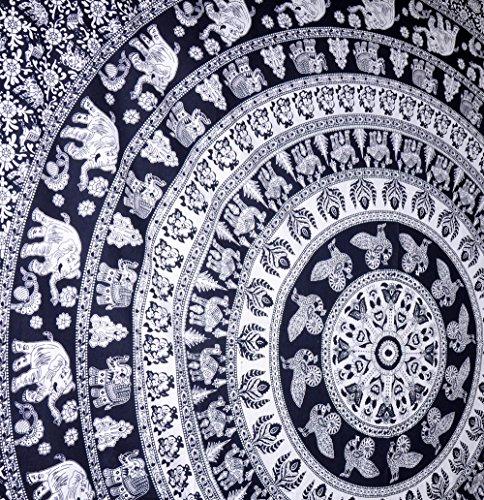 El caminar del elefante del Hippie, con motivos de elefantes, tapices, tapices...