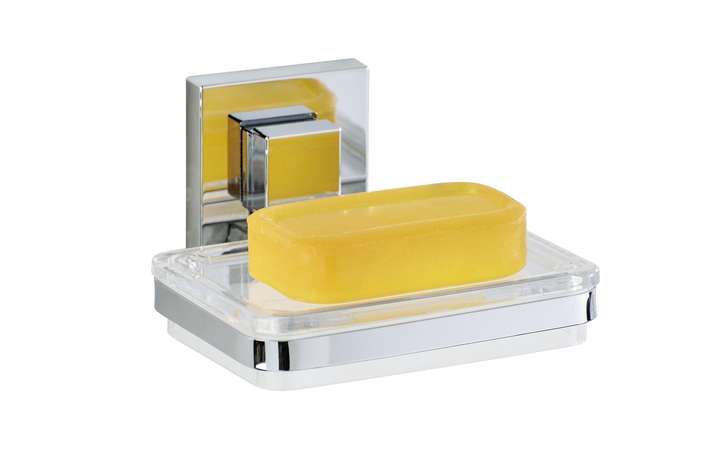 wenko 22681100 porte savon quadro vacuum loc abs acier inoxydable 12 x 6 5 x 12 cm inspid co. Black Bedroom Furniture Sets. Home Design Ideas