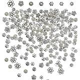 YOTINO 100g Accessori per Creazione Gioielli Fai da Te Argentoperline intercalari di fiori antichi per bracciale, collana e o