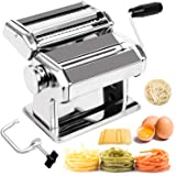 BABYLTRL Pasta Maker - Stainless Steel Pasta Machine, 8 Adjustable Thickness Settings Noodles Maker Includes Hand Crank Clamp