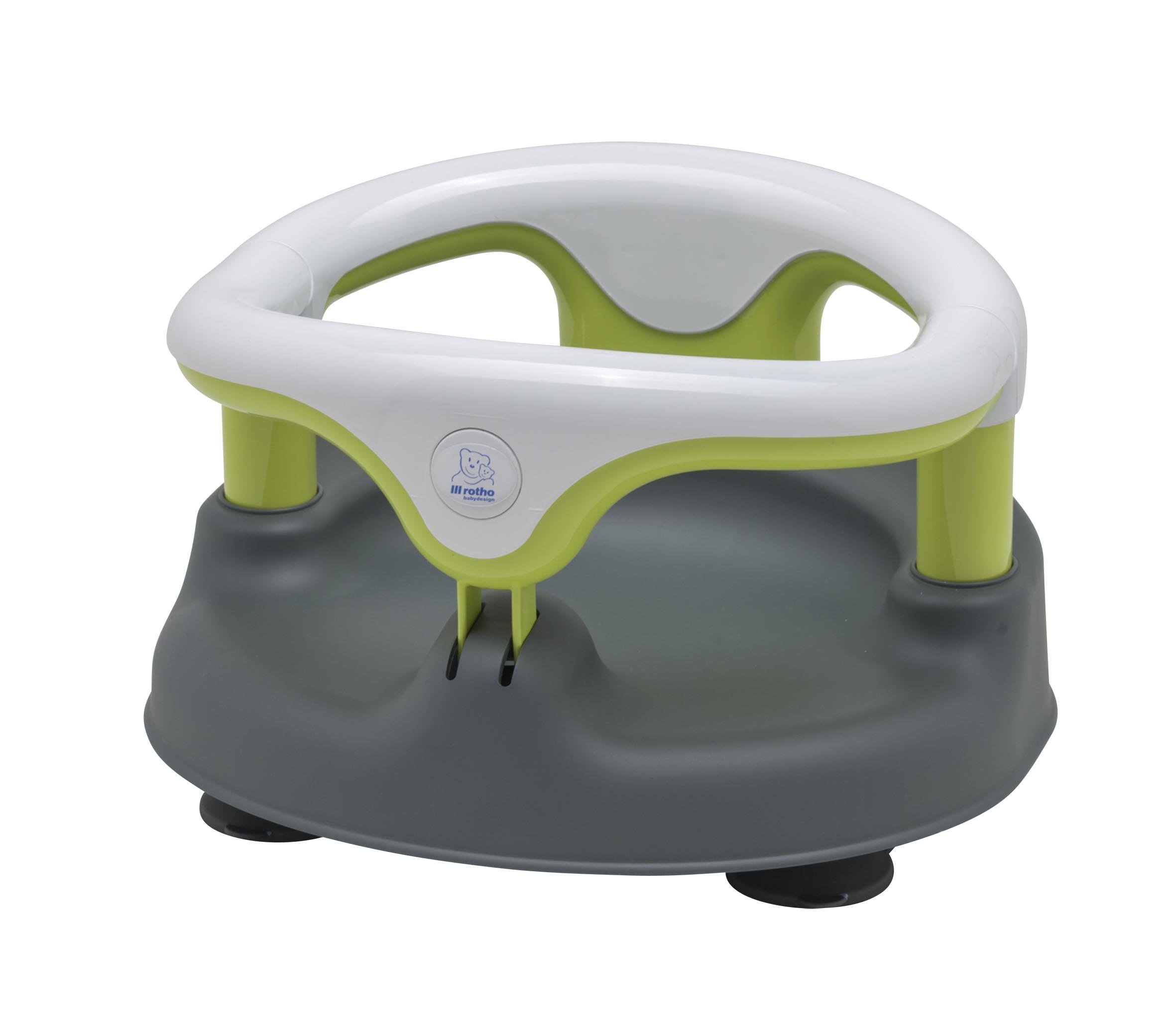 Rotho Babydesign Baby Bath Seat, Grey/White/Apple Green