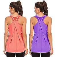 Nekosi Womens Workout Tank Tops Mesh Stitching Yoga Athletic Vest Shirts