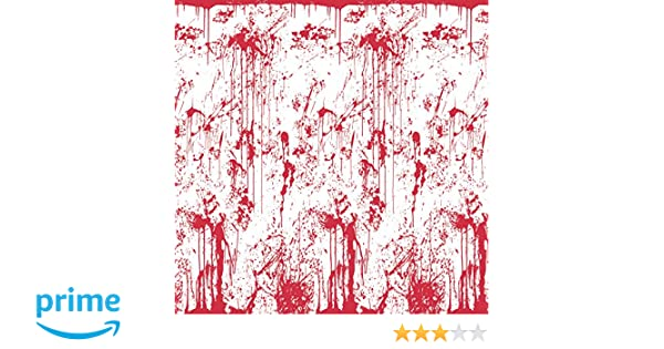 Bloody Wall Dripping Blood Backdrop Halloween Party Prop Decoration 30ft x 4ft
