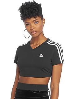 T Shirt Cropped Femme Adidas Cropped Blanc FR 40: Amazon