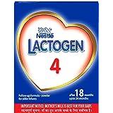 Nestlé LACTOGEN 4 Follow-Up Infant Formula Powder (After 18 months upto 24 months), Stage 4 - 400g Bag-In-Box Pack