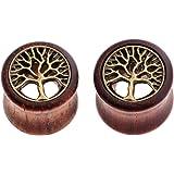 Jovivi - Tappi in legno e ottone per albero della vita, 2 – 14 pezzi