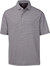 Oxford America 521002 Calhoun Short Sleeve Stripe Polo, X-Large, Iron Gate
