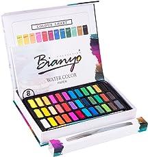 Bianyo Watercolor Paint Set - 36 Watercolors Field Sketch Set